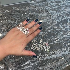 Barbie Diamond Necklace & Ring Bundle